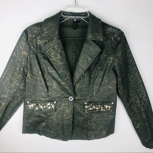 ETHYL Green Rhinestones Jacket